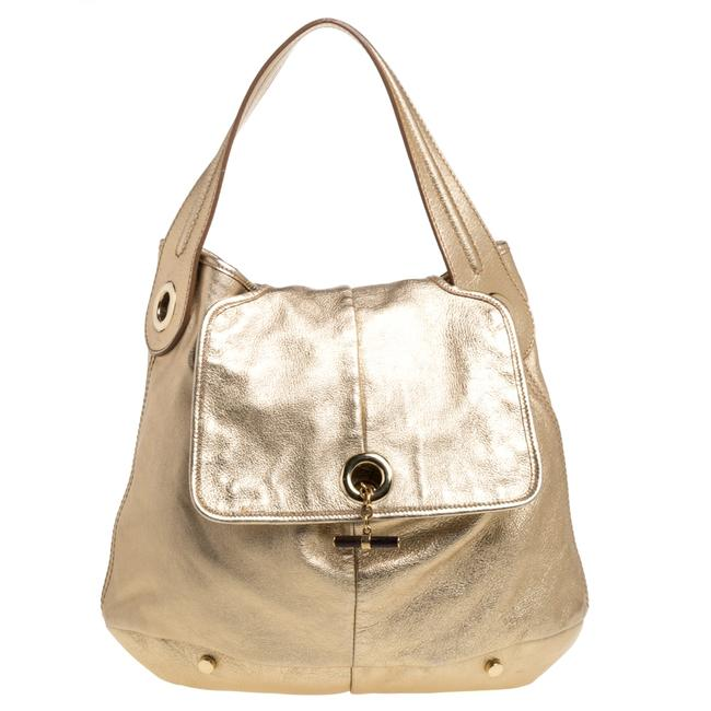 Item - Yves Metallic Gold Leather Capri Hobo Bag