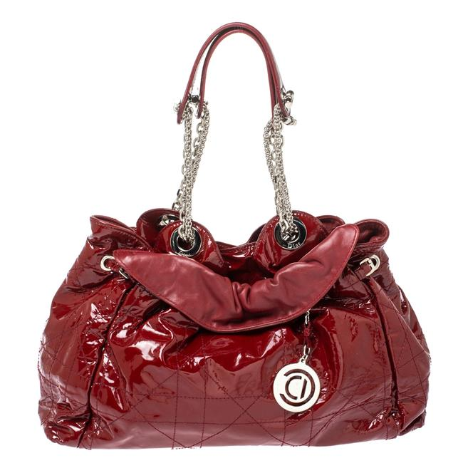 Item - Red Patent Cannage Leather Le Trente Hobo Bag