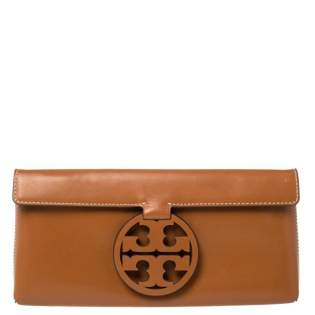 Item - Brown Leather Miller Clutch