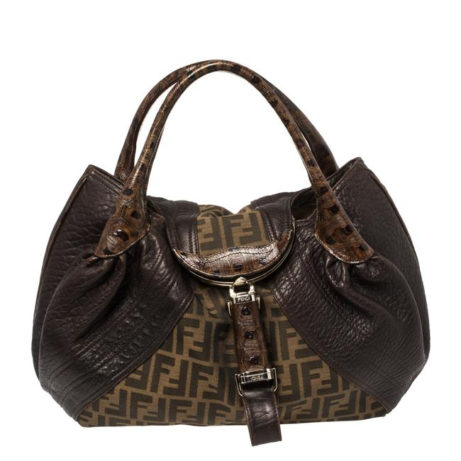 Item - Tobacco Zucca Canvas and Leather Spy Hobo Bag