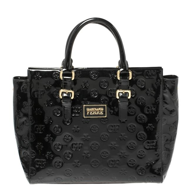Item - Signature Embossed Patent Leather Buckle Handle Tote