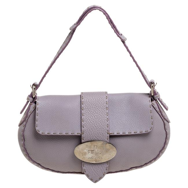 Item - Lilac Leather Selleria Shoulder Bag