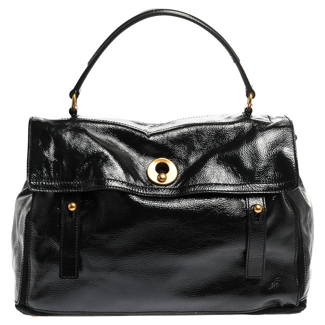 Item - Muse Two Deep Green Patent Leather and Suede Large Bag Wristlet