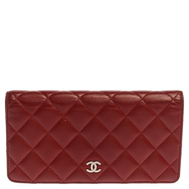 Item - Red Quilted Leather Yen Continental Wallet