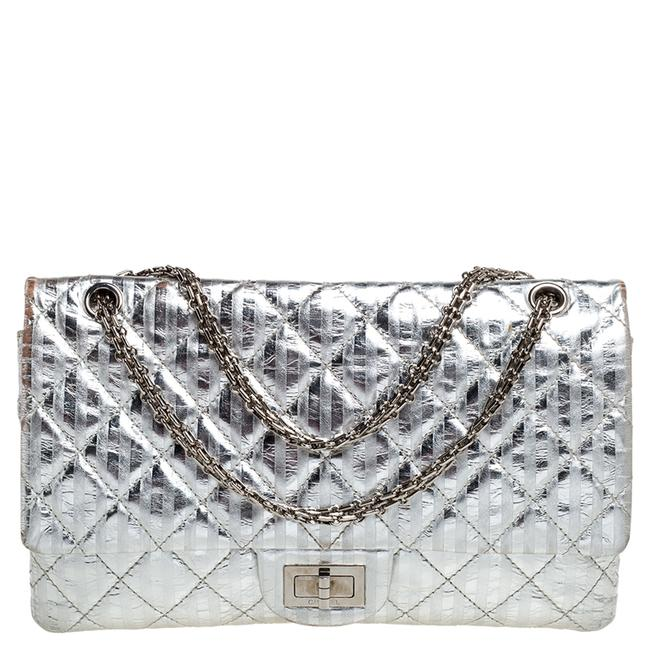 Item - 2.55 Reissue Classic Flap Silver Striped Quilted Leather Reissue Classic 227 Shoulder Bag