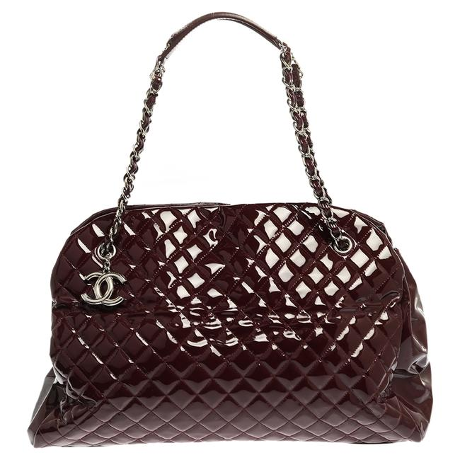 Item - Mademoiselle Burgundy Quilted Patent Leather Large Just Bowler Bag Satchel