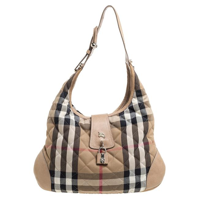 Item - Quilted House Check Canvas and Leather Brooke Hobo Bag