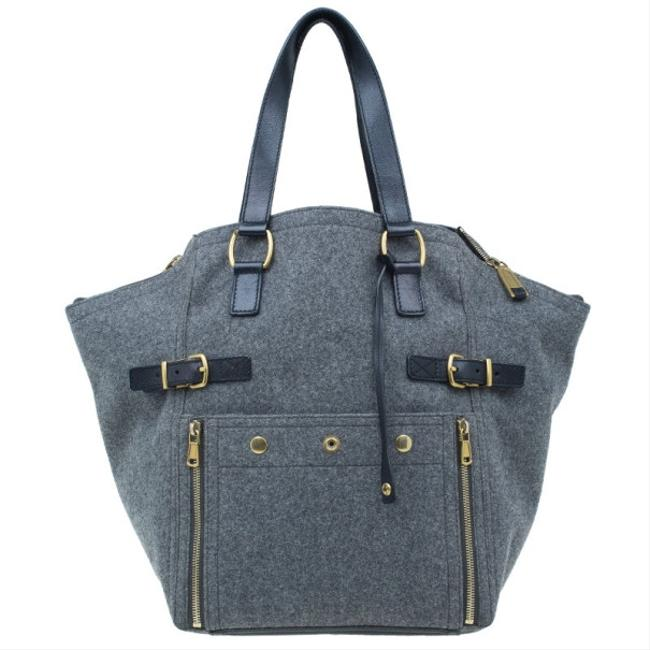 Item - Downtown Yves Grey Felt Luggage Tote