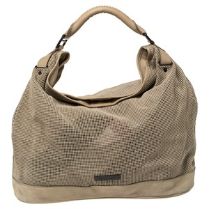 Burberry Perforated Suede and Leather Oversized Hobo Bag
