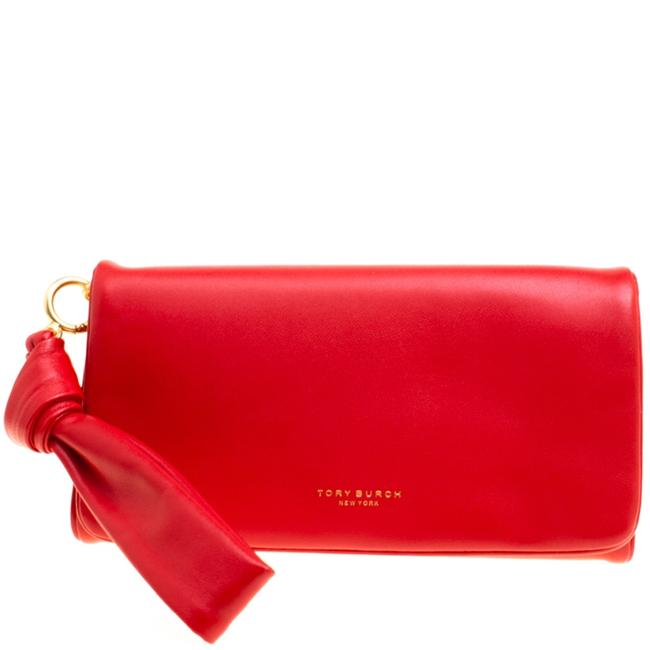 Item - Coral Red Leather Beau Wristlet Wallet