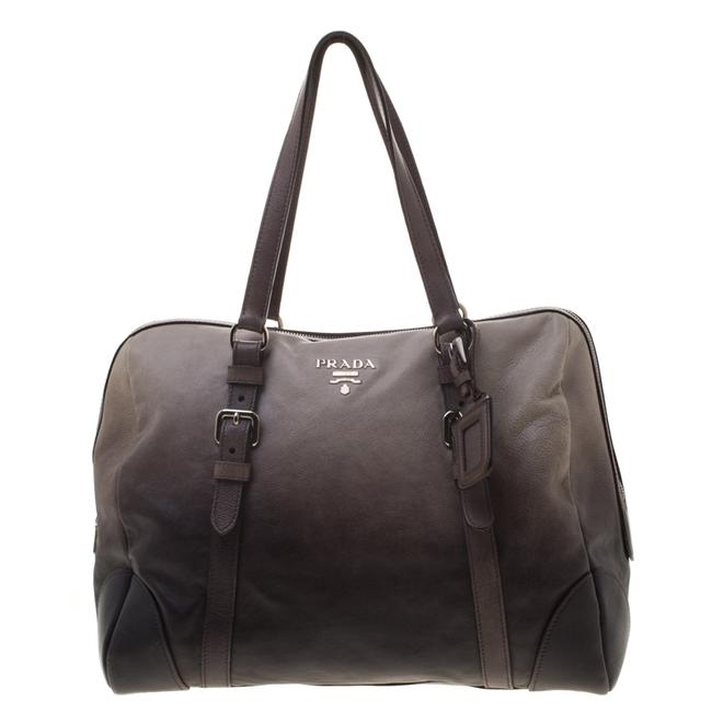 Item - Ombre Grey Glace Calf Leather Tote