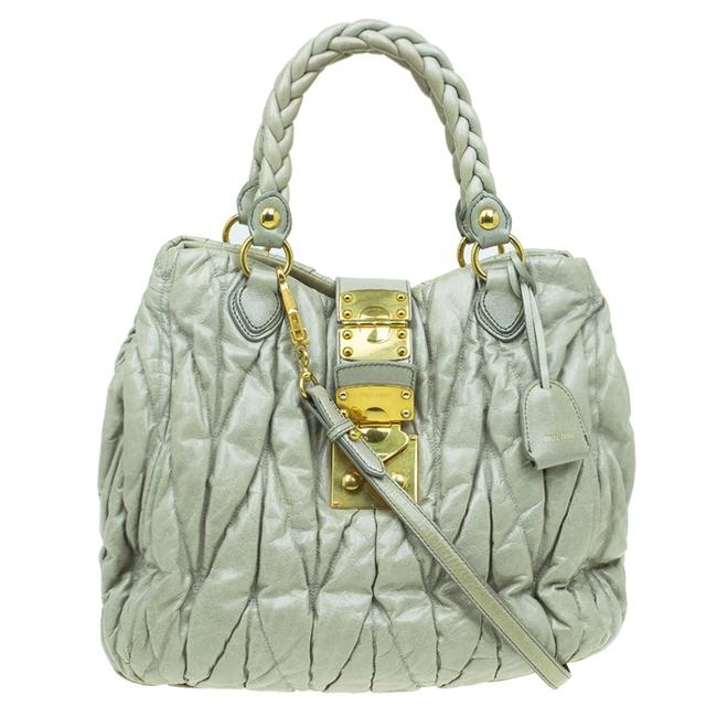 Item - Green Matelasse Lux Leather Large Shoulder Bag