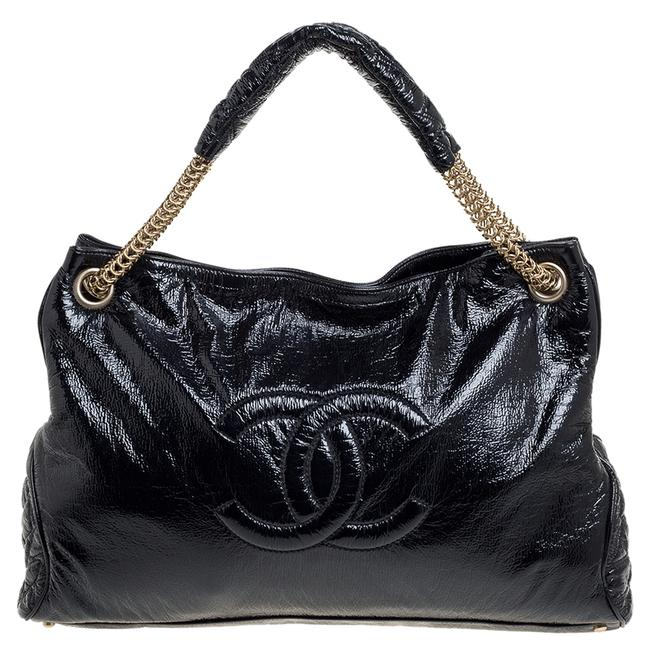 Item - Crinkled Soft Patent Leather Cc Chain Hobo Bag