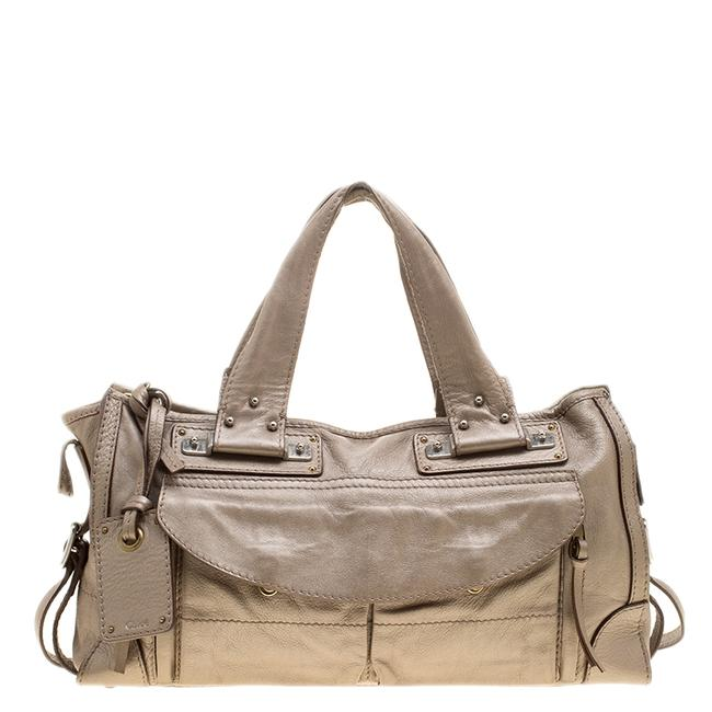 Item - Metallic Beige Leather Tote
