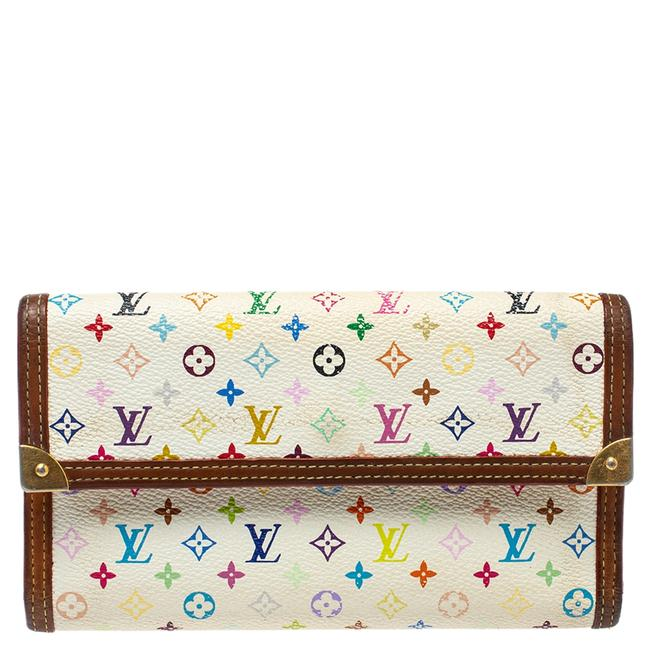 Item - Tresor Porte White Multicolor Monogram Canvas International Wallet