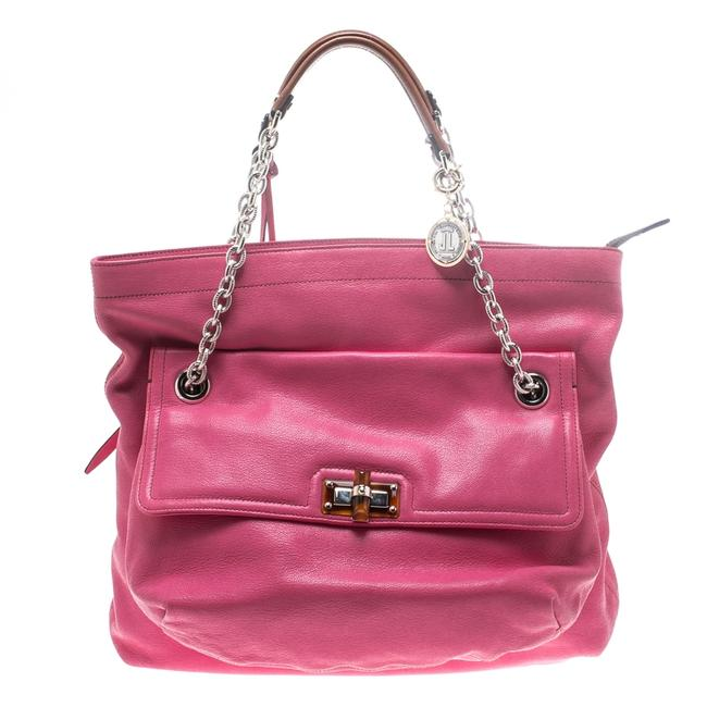 Item - Pink Leather Chain Shoulder Bag