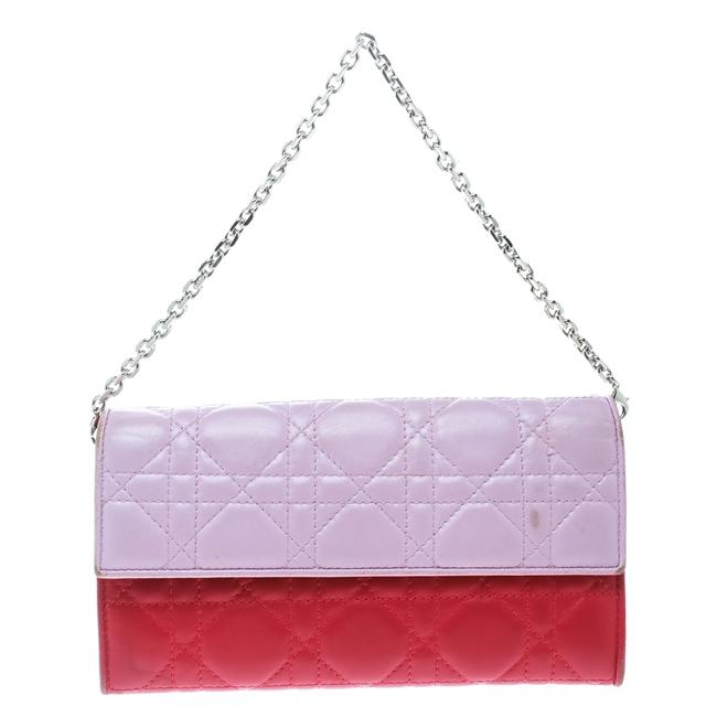 Item - Lady Two Tone Pink Cannage Leather Rendez-vous Wallet