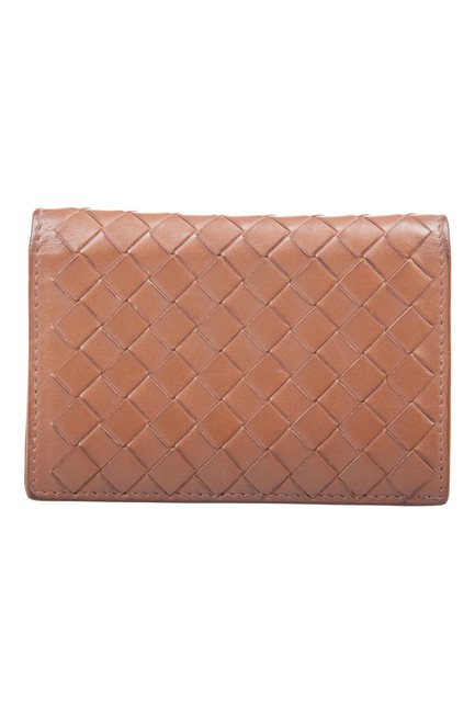 Item - Brown Intrecciato Leather Bifold Card Case Wallet