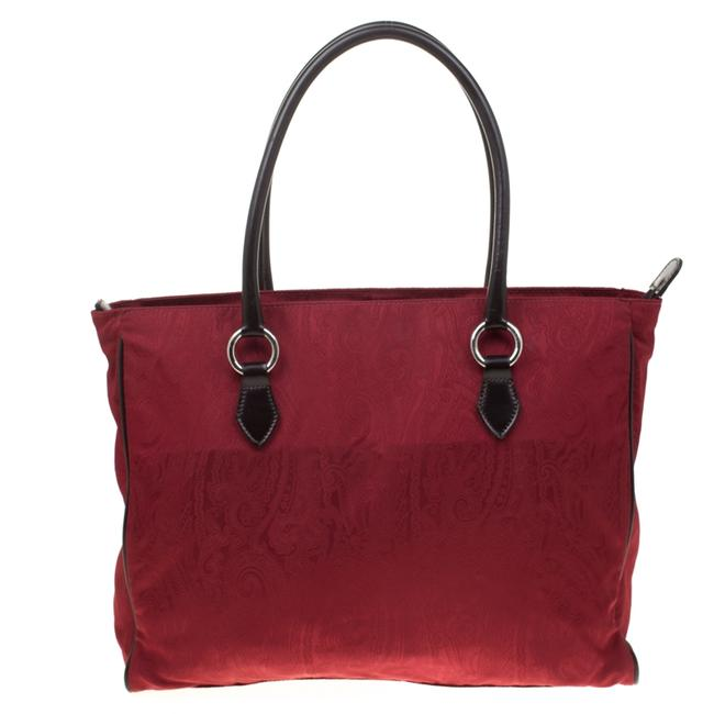 Item - Red Paisley Canvas Shopper Tote