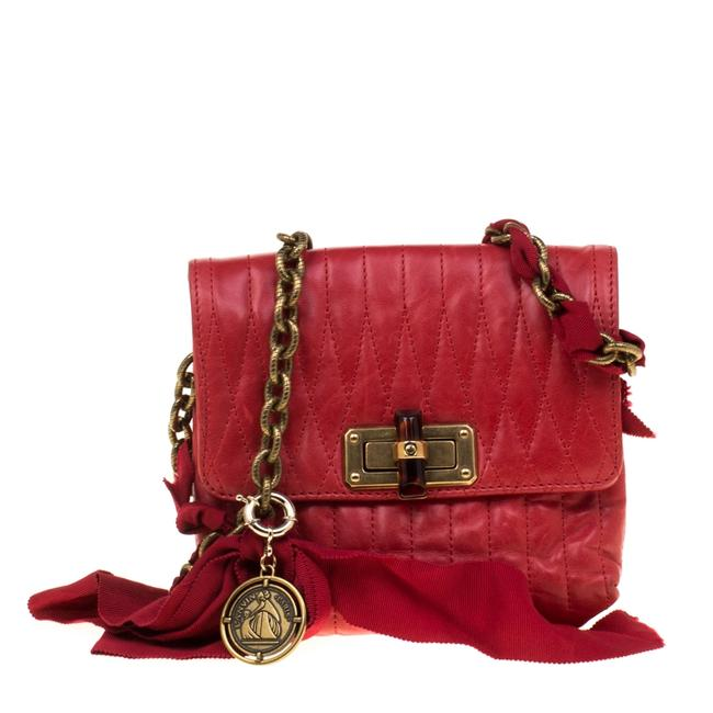 Item - Crossbody Red Quilted Leather Mini Pop Shoulder Bag