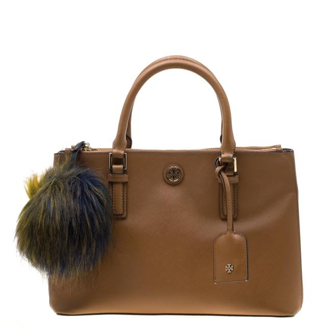 Item - Robinson Brown Leather Double Zip Tote Satchel