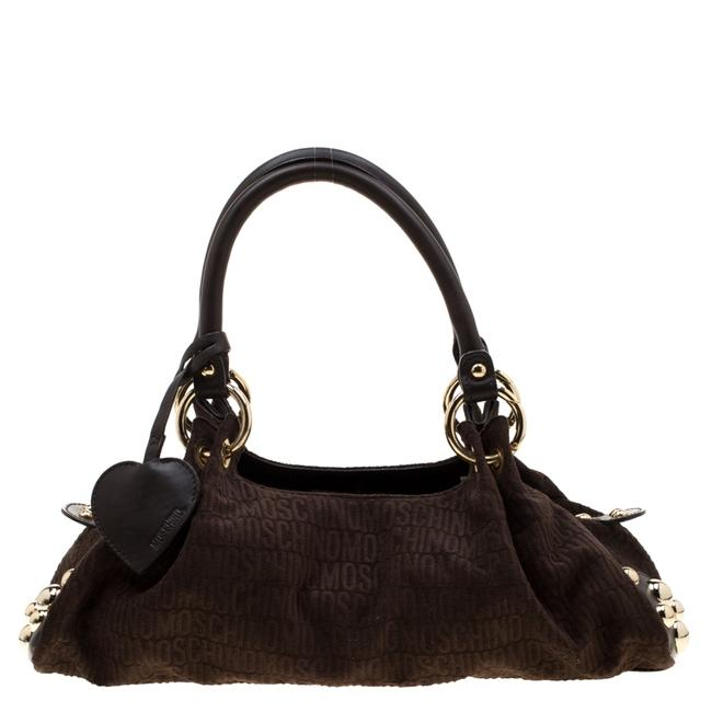 Item - Brown Signature Canvas and Leather Studded Satchel