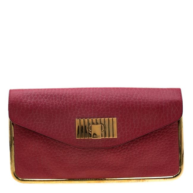 Item - Sally Red Leather Clutch