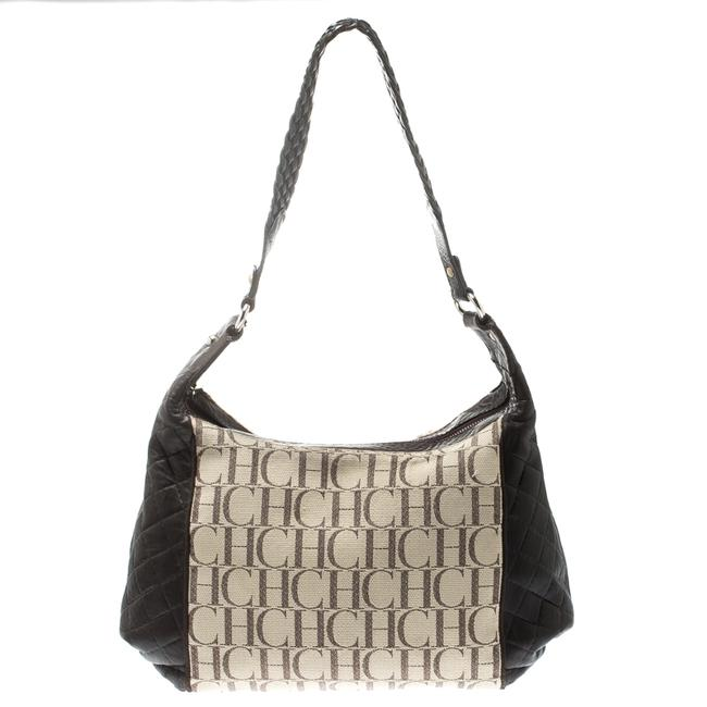 Item - Brown/Beige Monogram Canvas and Leather Hobo Bag
