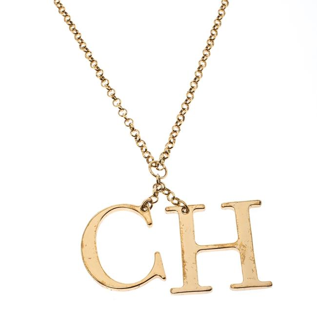Item - Logo Charm Gold Tone Long Toggle Pendant Necklace Jewelry