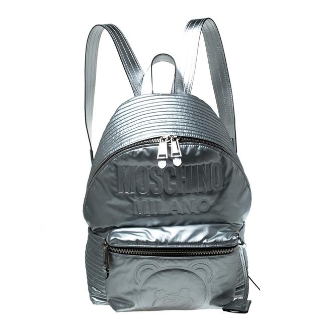 Item - Silver Teddy Embossed Large Leather Backpack