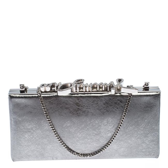 Item - Metallic Silver Leather Vintage Celeste Clutch