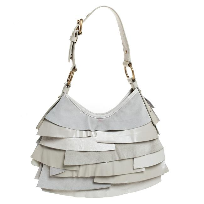 Item - Yves Cream Suede/Leather and Patent Leather St. Tropez Hobo Bag