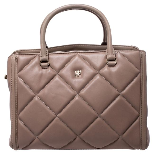 Item - Light Brown Quilted Leather Tote