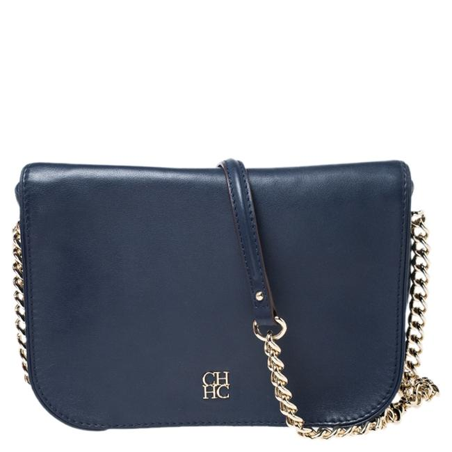 Item - Navy Blue Leather Shoulder Bag