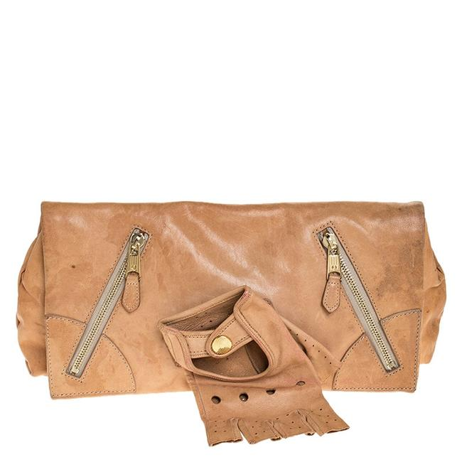 Alexander McQueen Beige Leather Faithful Glove Clutch Alexander McQueen Beige Leather Faithful Glove Clutch Image 1