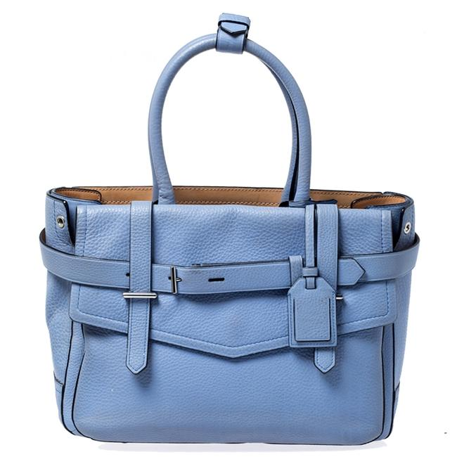 Item - Sky Blue Leather Boxer Tote