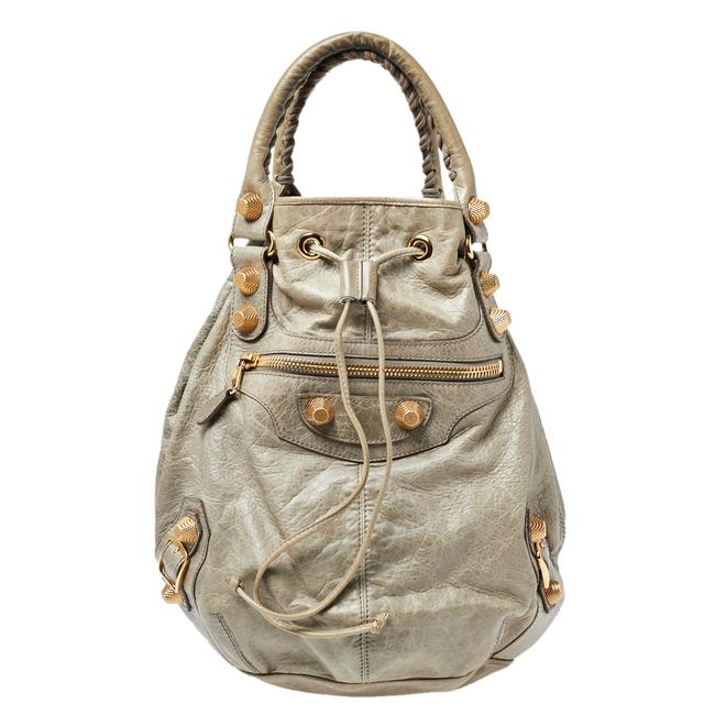 Item - Militaire Leather Ggh 21 Pompon Hobo Bag