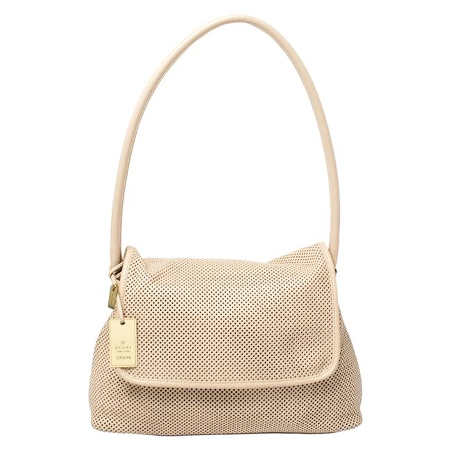 Item - Perforated Leather with Pouch Shoulder Bag