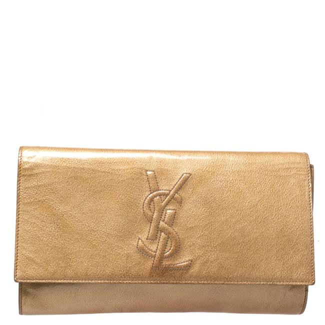Item - Belle de Jour Yves Light Yellow Patent Leather Clutch