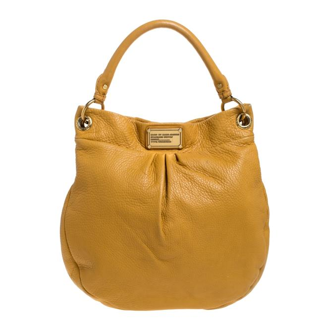 Item - Yellow Leather Classic Q Hillier Hobo Bag