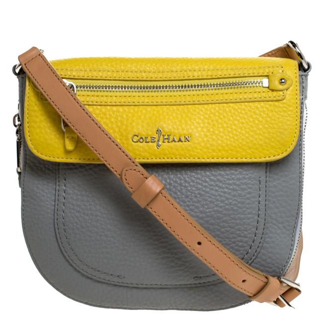 Item - Crossbody Tricolor Leather Flap Shoulder Bag