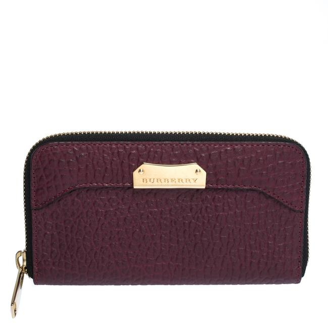Item - Purple Leather Zip Around Wallet