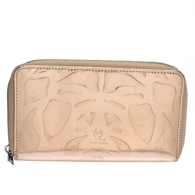 Item - Metallic Rose Gold Patent Leather Zip Around Wallet