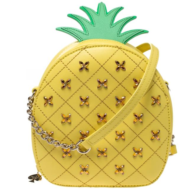 Item - Crossbody Yellow Pineapple Leather Shoulder Bag