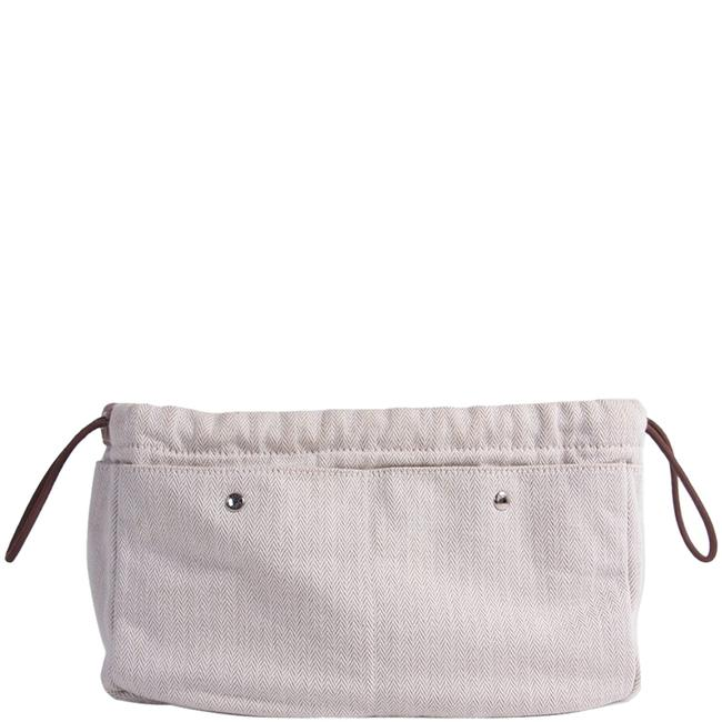 Item - Fourbi Natural Canvas and Leather 25 Pouch Tech Accessory