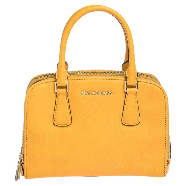 Michael Kors Yellow Leather Reese Satchel Michael Kors Yellow Leather Reese Satchel Image 1
