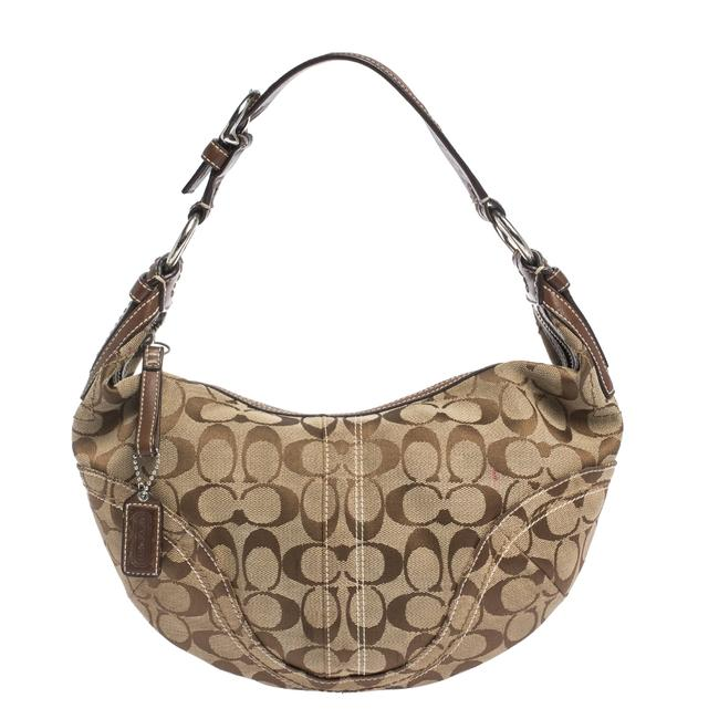 Item - Beige/Brown Signature Canvas and Leather Hobo Bag
