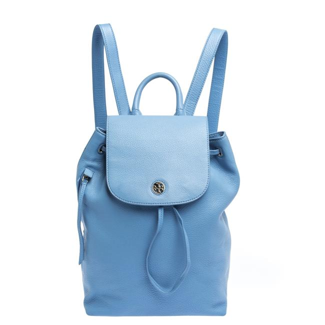 Item - Drawstring Brody Blue Leather Backpack
