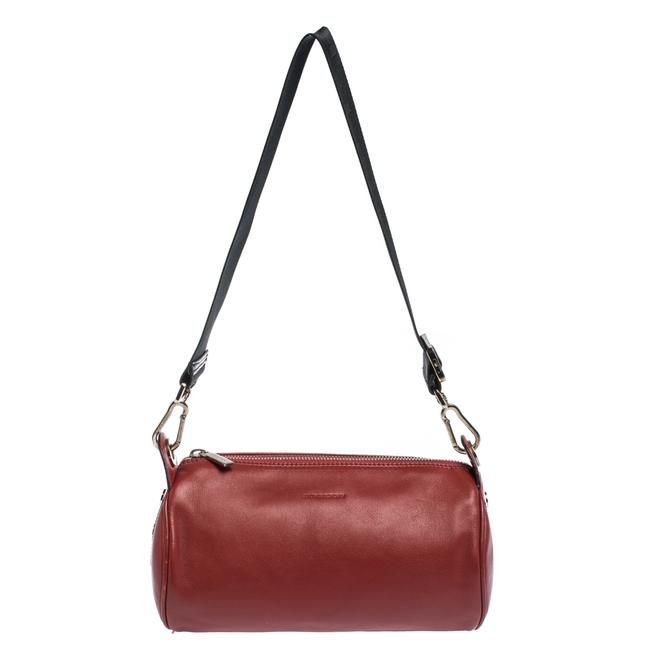 Item - Red Leather Small Duffel Bag Wristlet