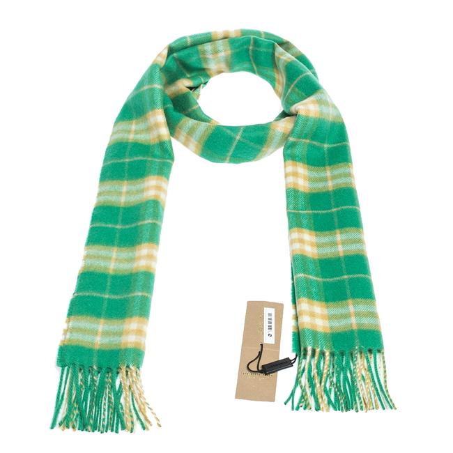 Item - Tourmaline Green Vintage Check Cashmere Scarf/Wrap